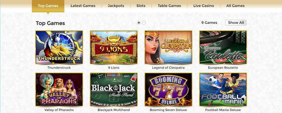 unique casino top games